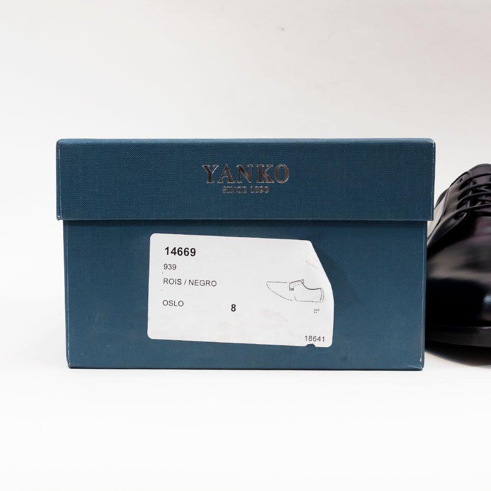 ヤンコ 14669 外羽根プレーントゥ ROISレザー サイズ8