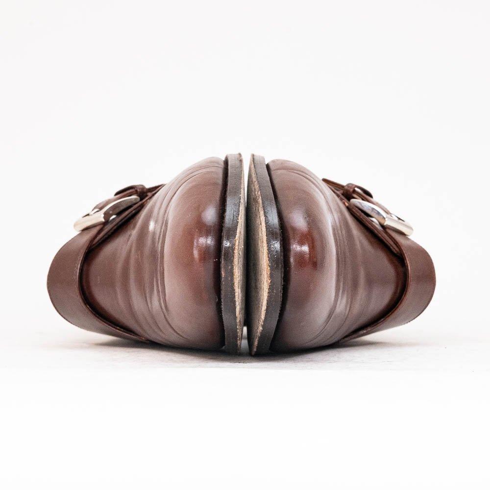 エンツォボナフェ シングルモンク モンクストラップ ブラウン サイズ7.5