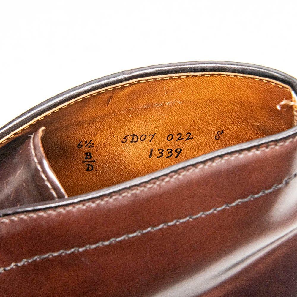 オールデン 1339 チャッカブーツ コードバン バーガンディー サイズ6.5D