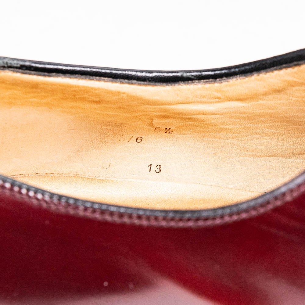 ローク イングランド 771T プレーントゥ バーガンディー サイズ6.5