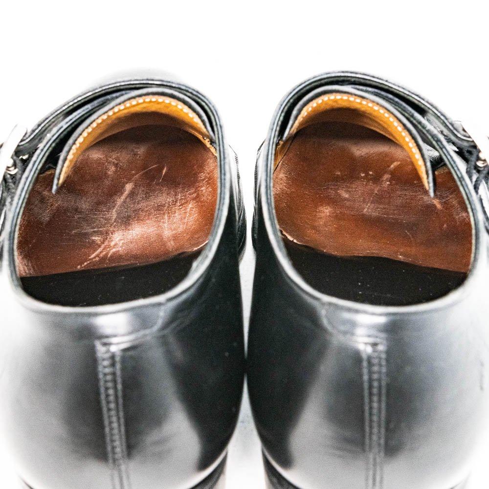 三陽山長 源四郎 ダブルモンク ブラック R2010ラスト サイズ6.5E