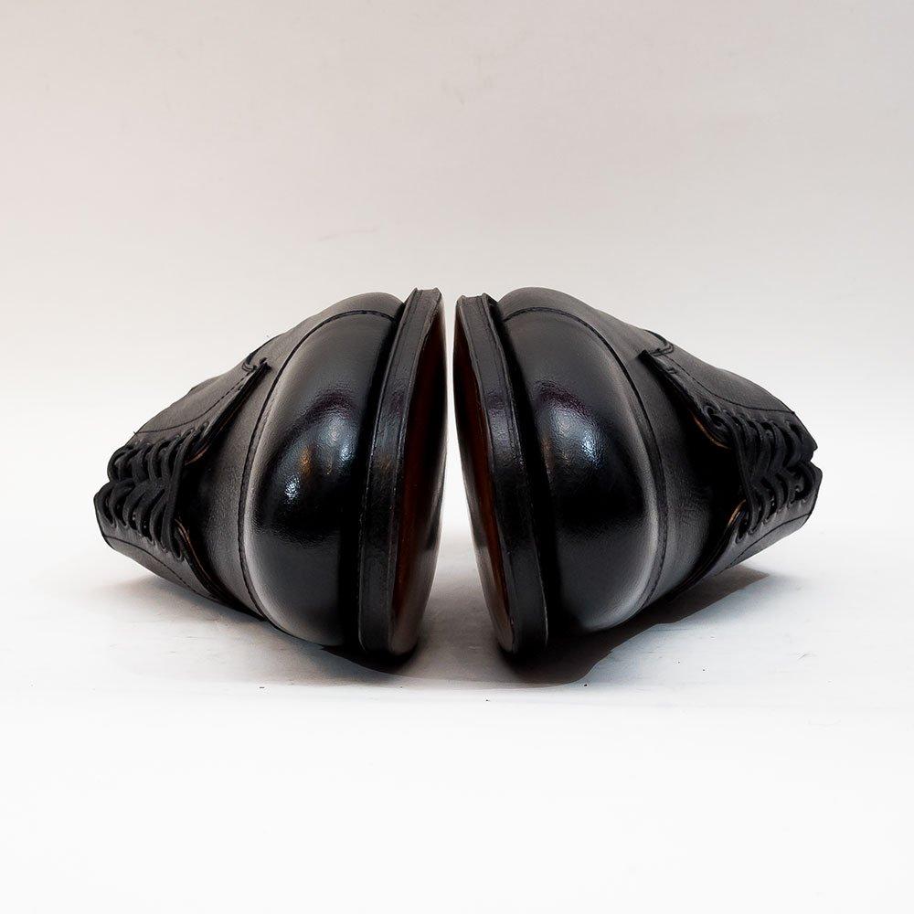ジェネシオコレッティ LOU 外羽根キャップトゥ ブラック グレインレザー サイズ40