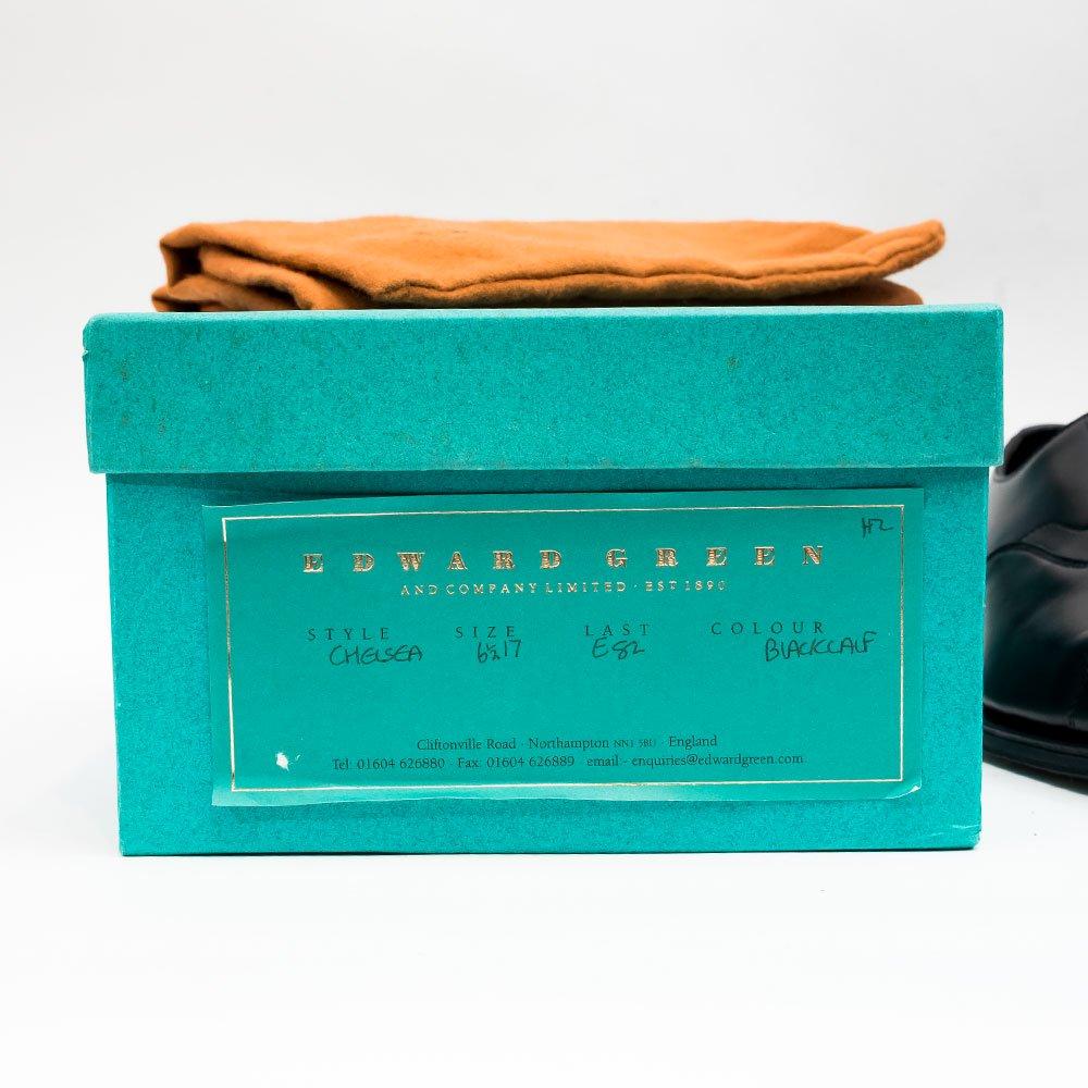 エドワードグリーン CHELSEA【チェルシー】内羽根ストレートチップ ブラック 82 サイズ6.5E