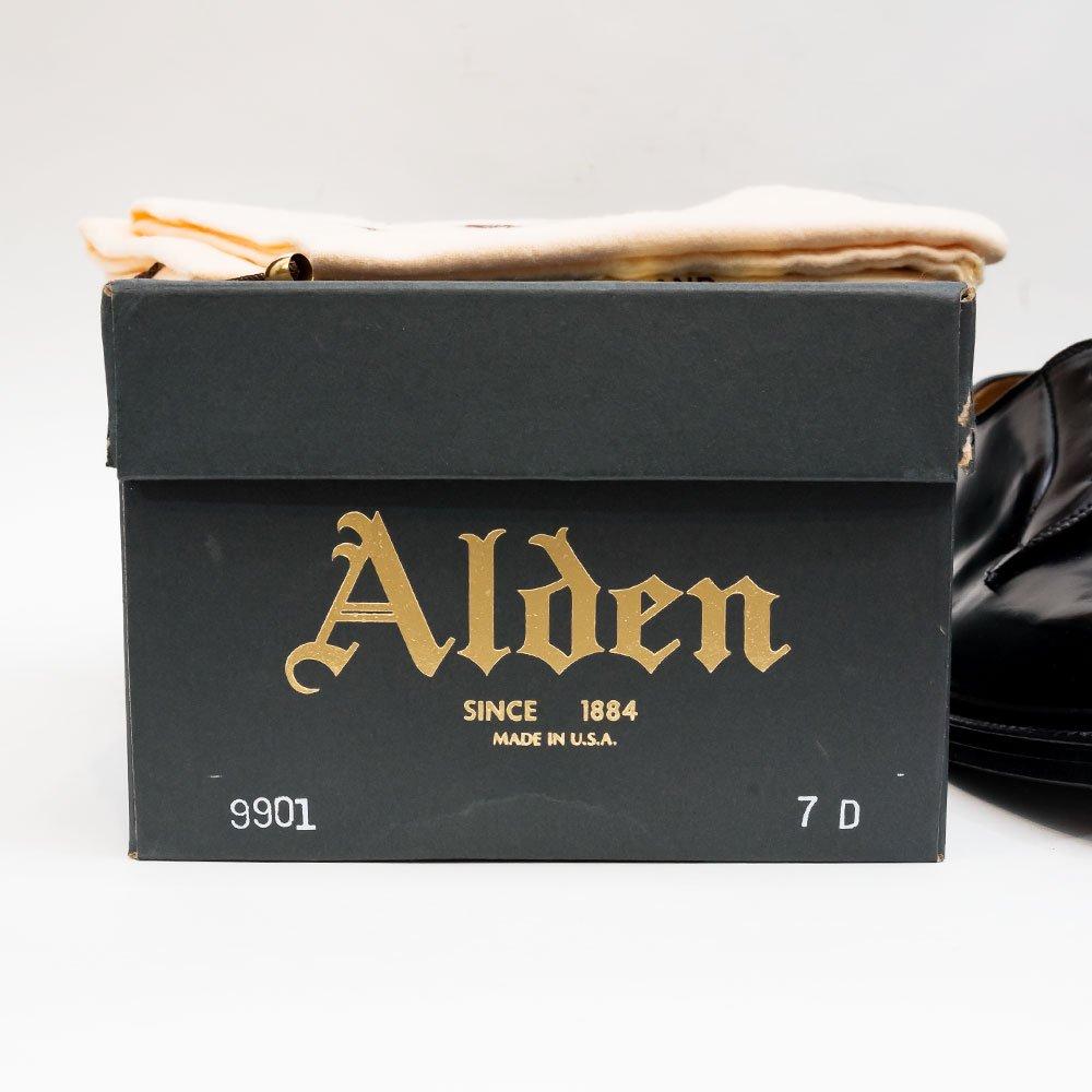 オールデン 9901 外羽根プレーントゥ ブラック コードバン サイズ7D