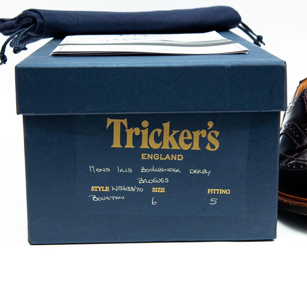 トリッカーズ M5633 BOURTON【バートン】ウイングチップ パープル バインダーカーフ サイズ6Fitting5