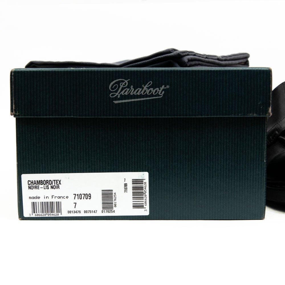パラブーツ CHAMBORD【シャンボード】Uチップ ブラック リスレザー サイズ7F