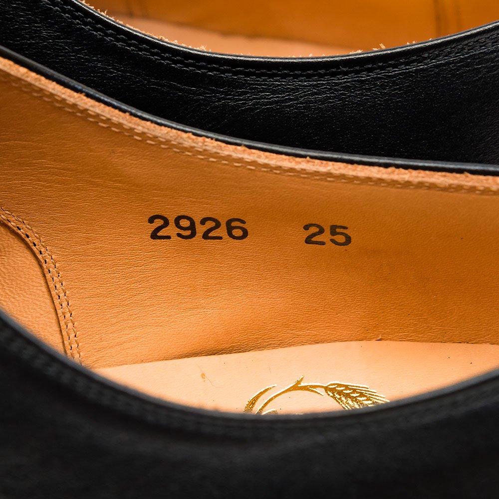 スコッチグレイン 2926 内羽根ストレートチップ ブラック サイズ25EEE