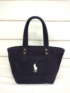 ■POLO RALPH LAUREN-CANVAS MINI PP TOTE