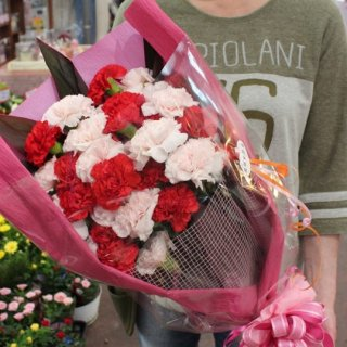 カーネーションの花束35〜40本 お誕生日 お祝い プレゼント ギフトに