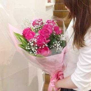 バラとかすみ草の花束 100本・108本・111本 ご予算とご希望に応じてプロポーズ用にお作りいたします