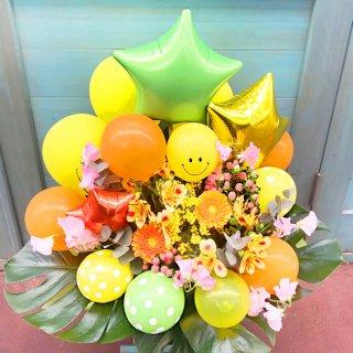 【飯塚生花】6000円おまかせ生花バルーンアレンジ(バルーン多め)