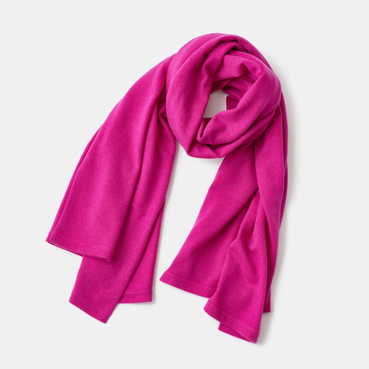 CASHMERE STOLE<BR>CHERRY PINK