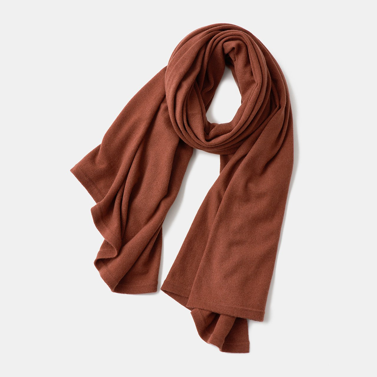 CASHMERE STOLE<BR>RED BRICK