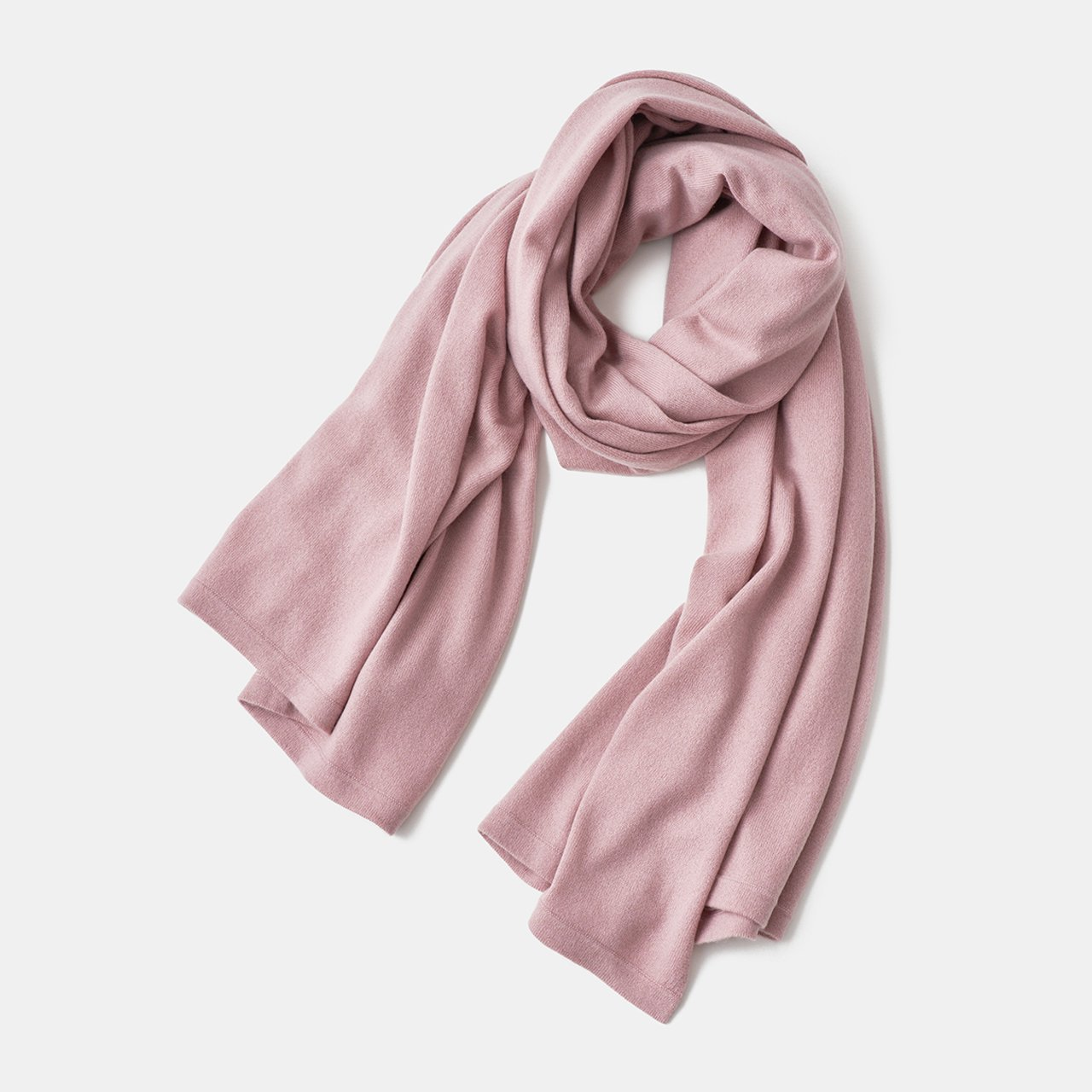 CASHMERE STOLE<BR>ANTIQUE ROSE