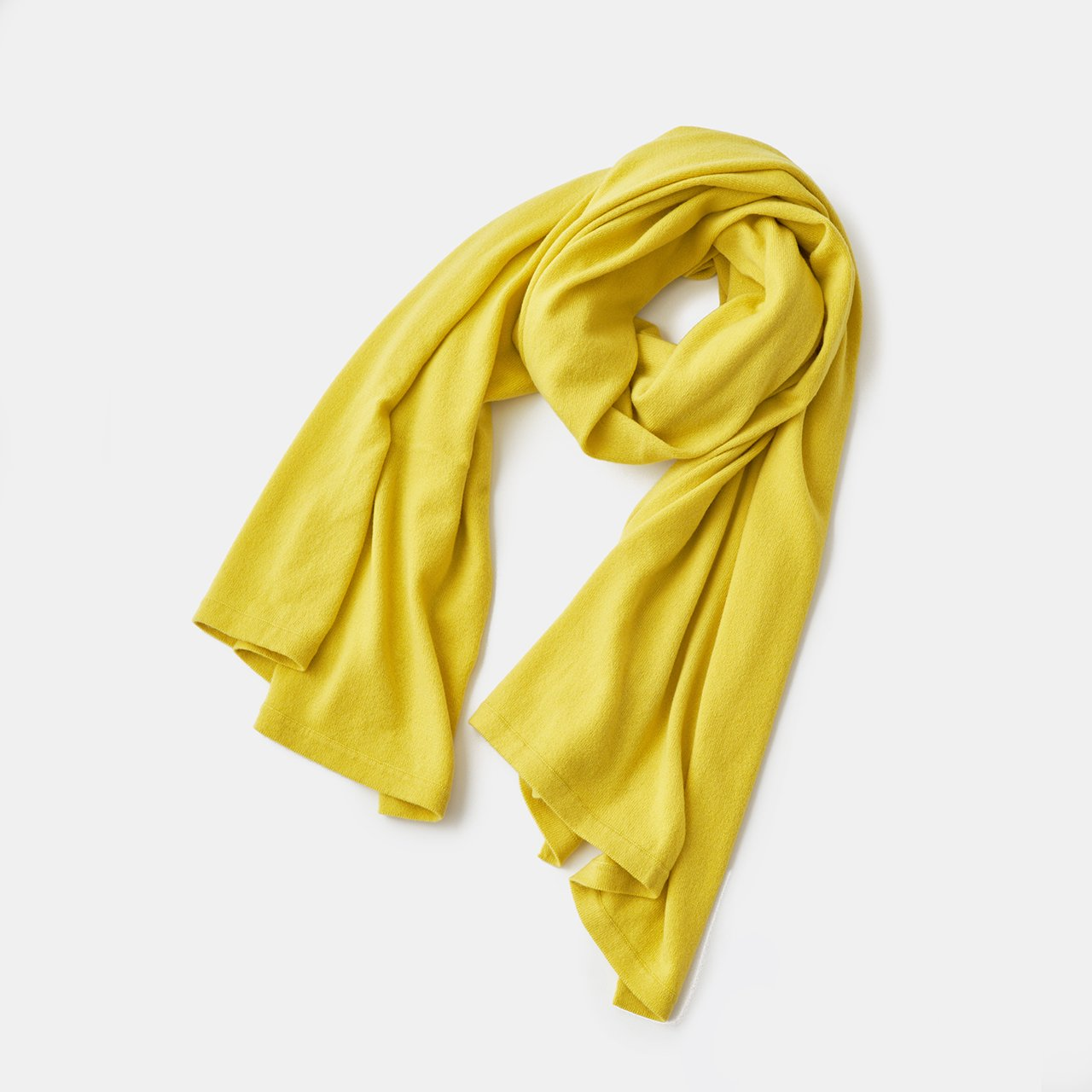 CASHMERE STOLE<BR>CHICK YELLOW
