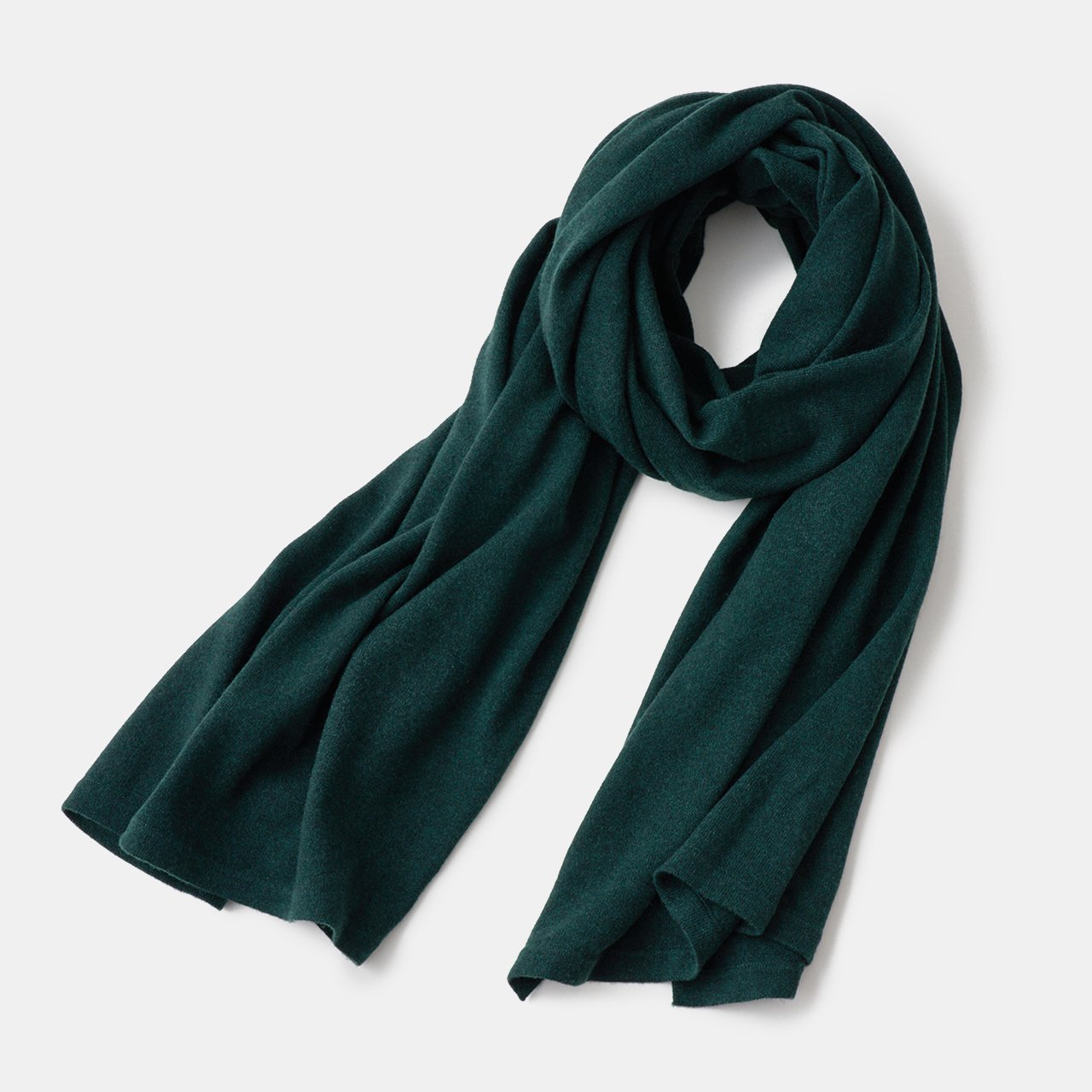 CASHMERE STOLE<BR>FOREST GREEN
