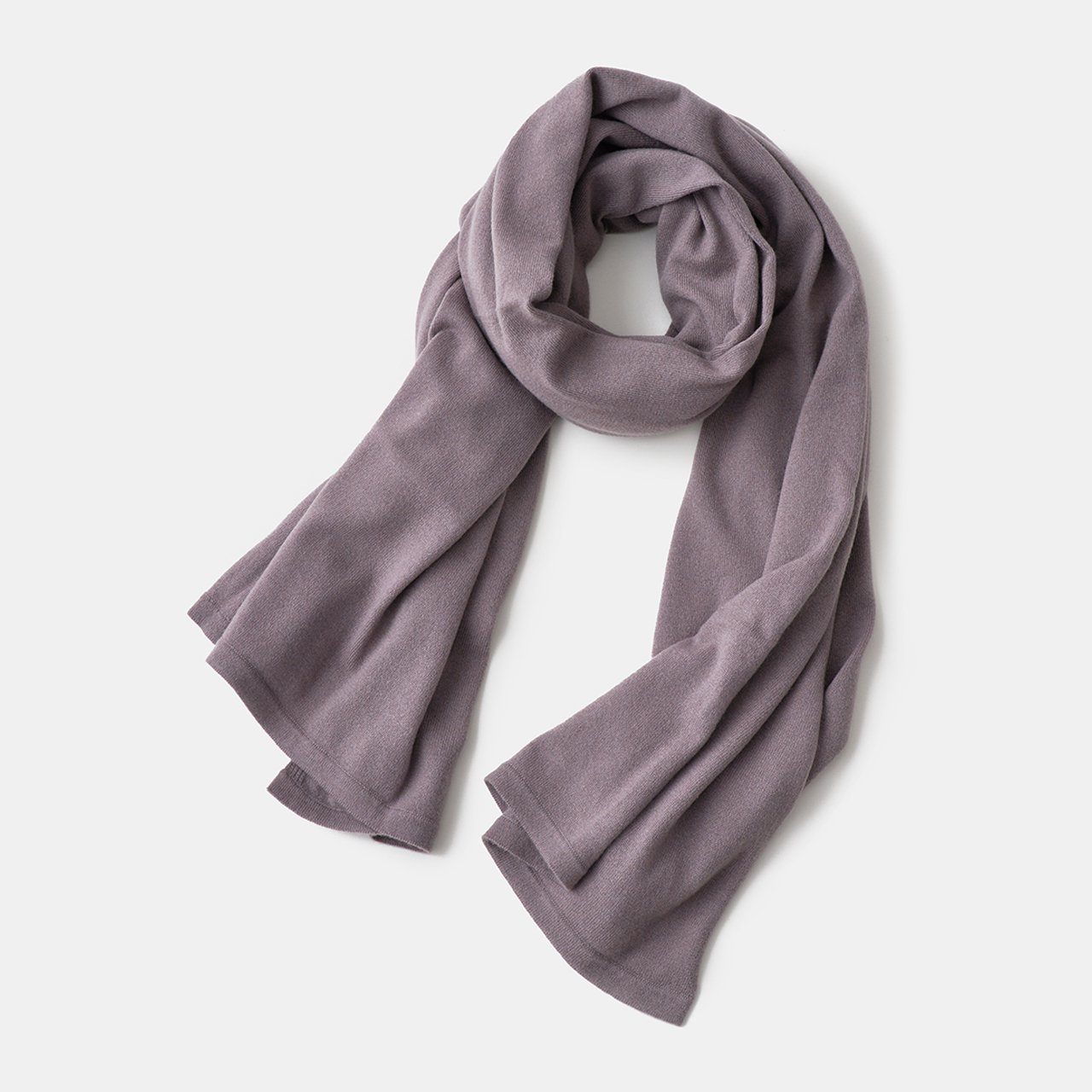 CASHMERE STOLE<BR>PURPLE GREY