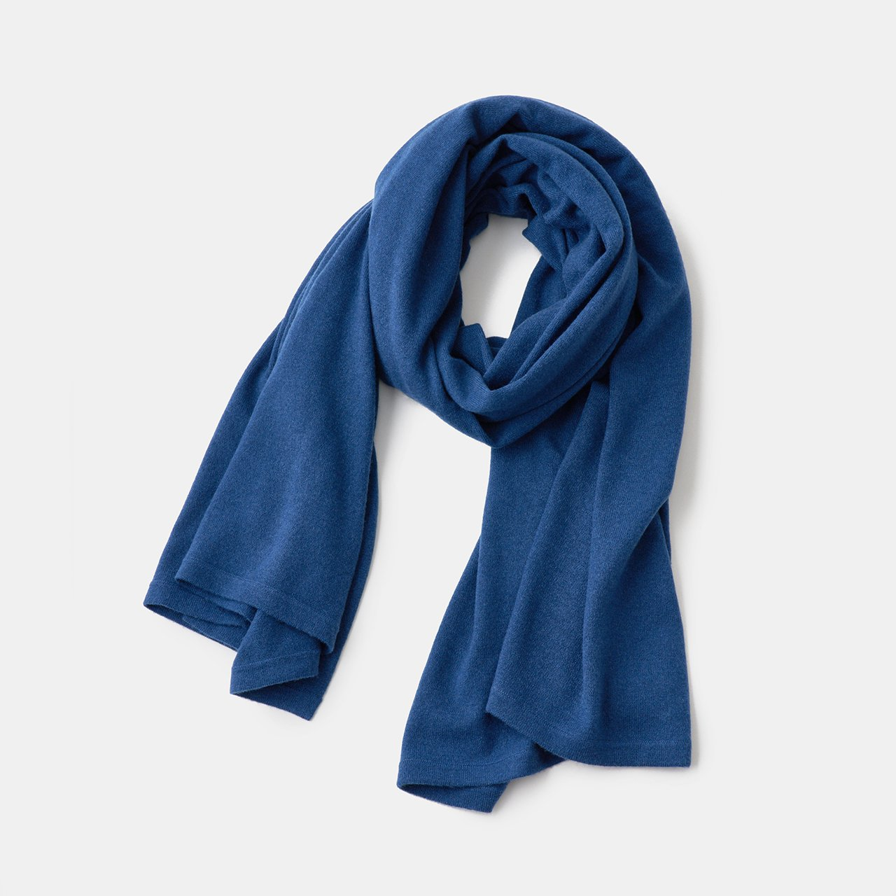 CASHMERE STOLE<BR>MIDNIGHT BLUE