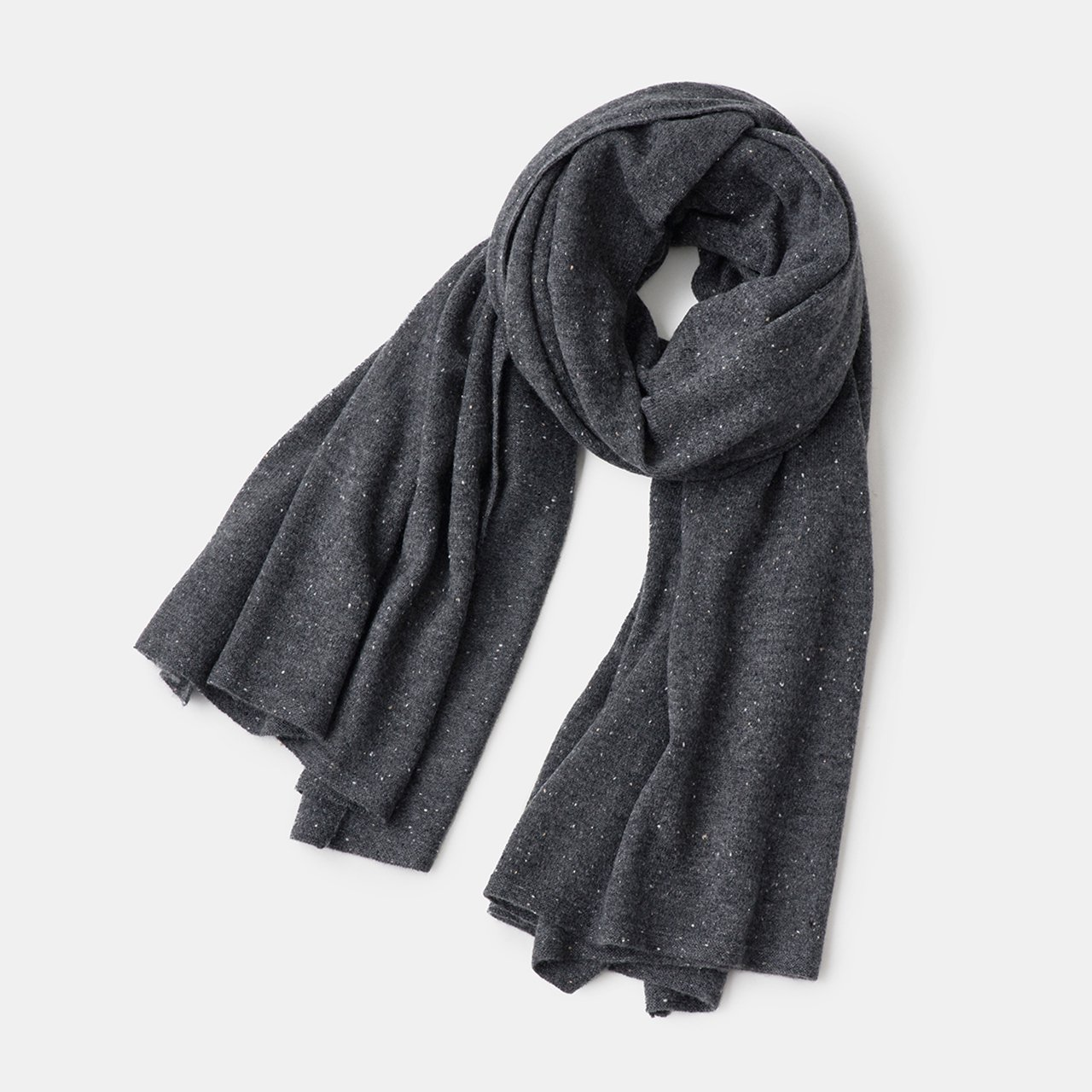 CASHMERE Stardust STOLE<BR>CHARCOAL GREY