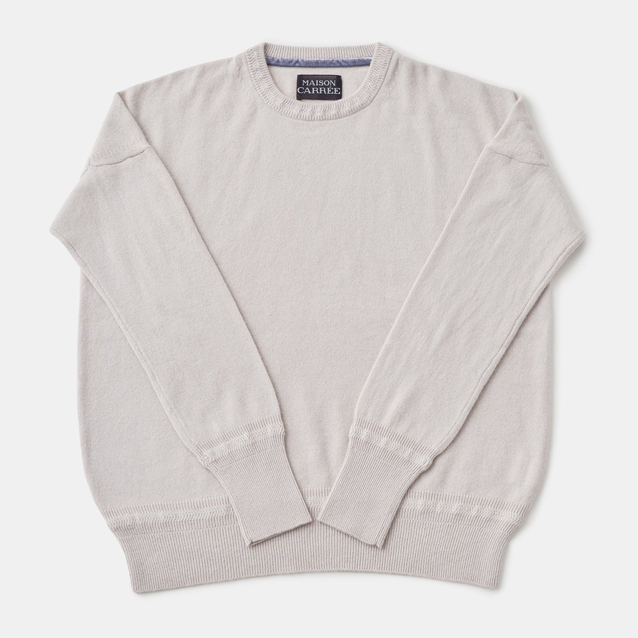 CASHMERE Basic Tops<BR>PALE JUTE