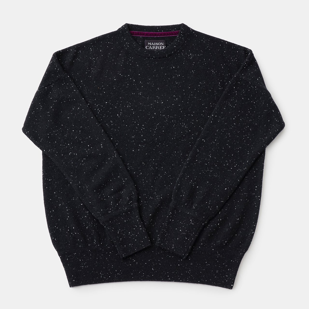 CASHMERE Basic Tops<BR>STARDUST BLACK