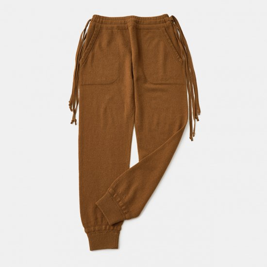 CASHMERE Basic Pants<BR>KHAKI