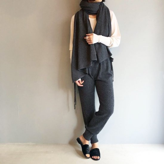 CASHMERE Basic Pants<BR>STARDUST GRAY