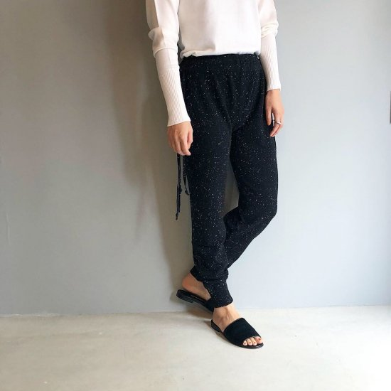 CASHMERE Basic Pants<BR>STARDUST BLACK