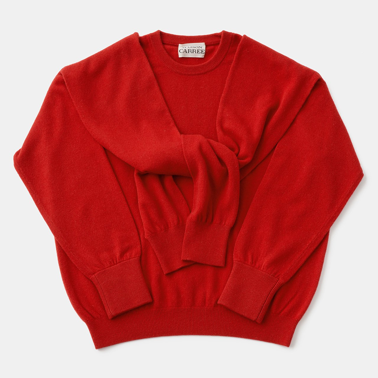 CASHMERE DOUBLE KNIT<BR>RED×RED