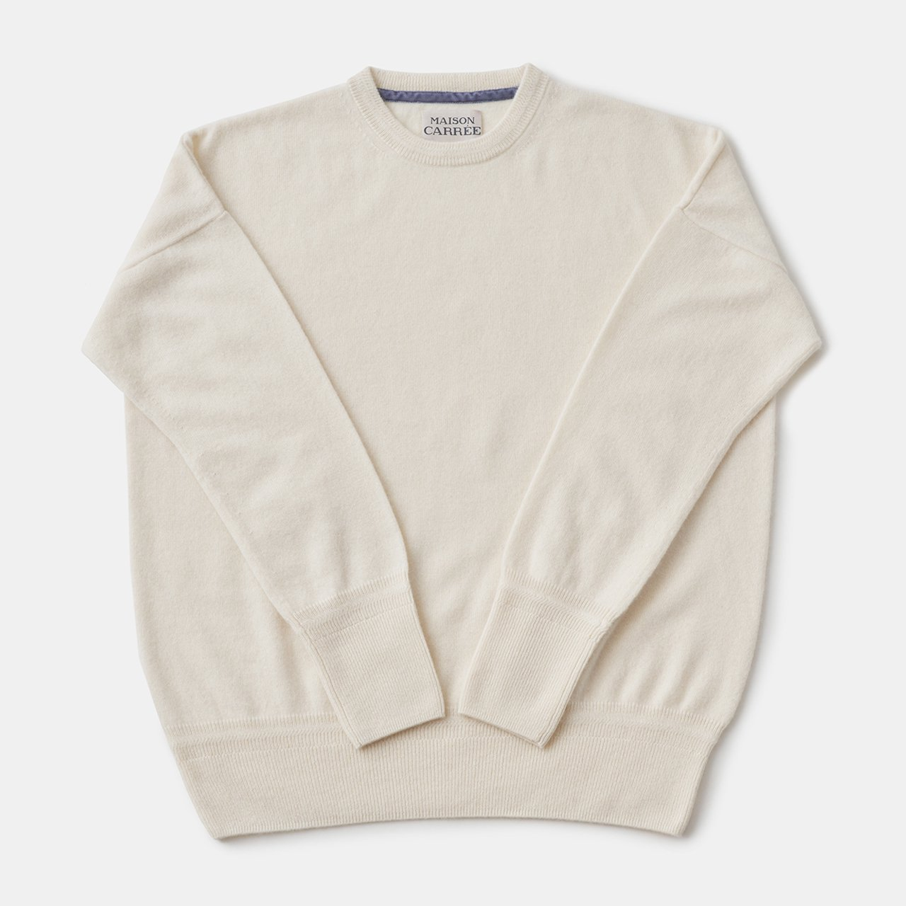 CASHMERE Basic Tops<BR>IVORY