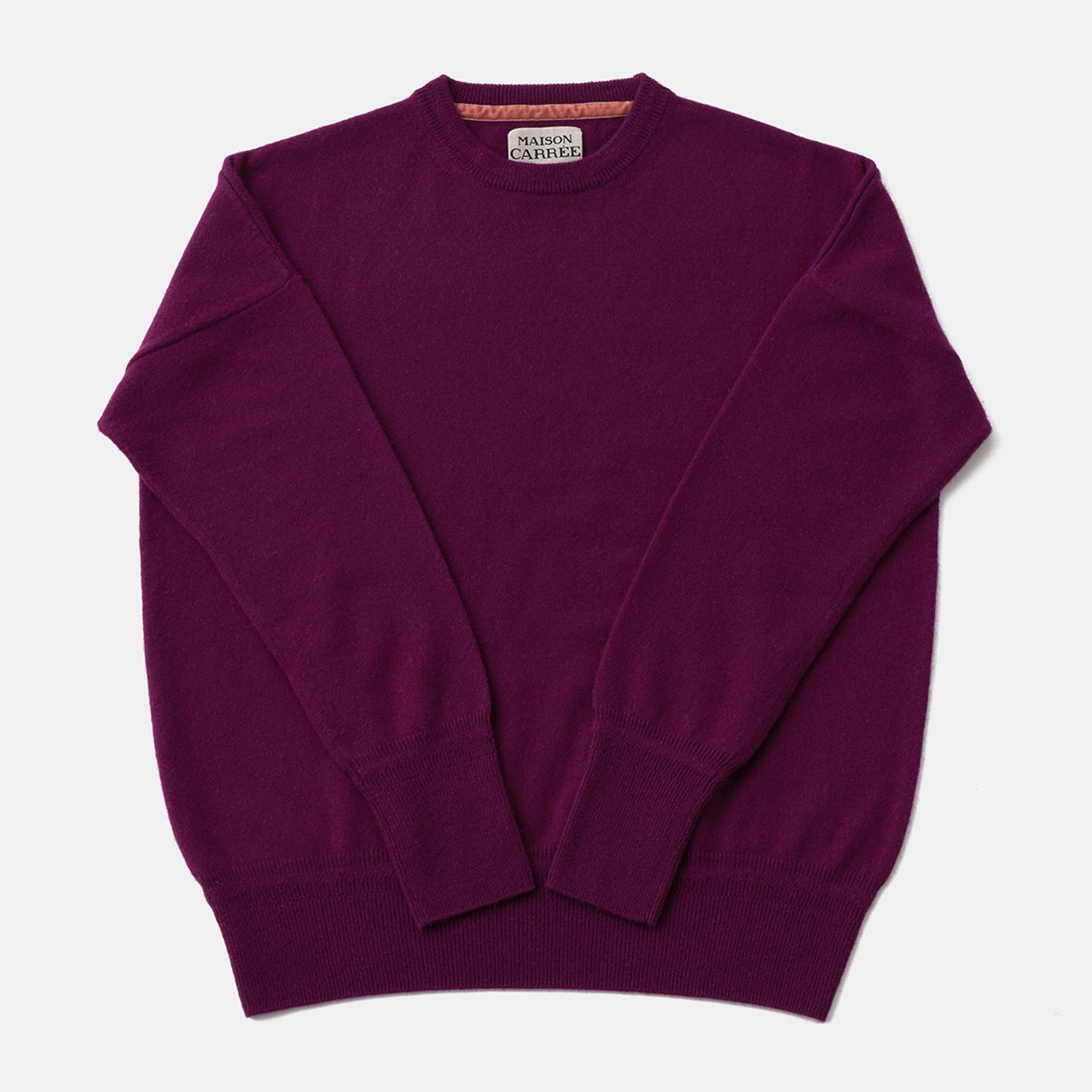 CASHMERE Basic Tops<BR>PURPLE