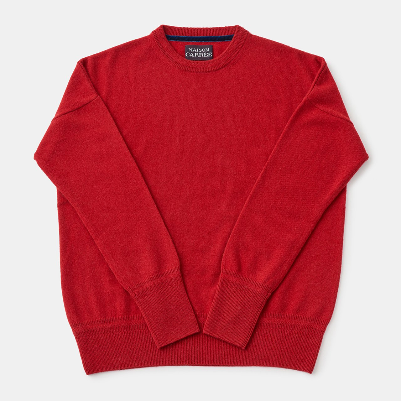 CASHMERE Basic Tops<BR>RED