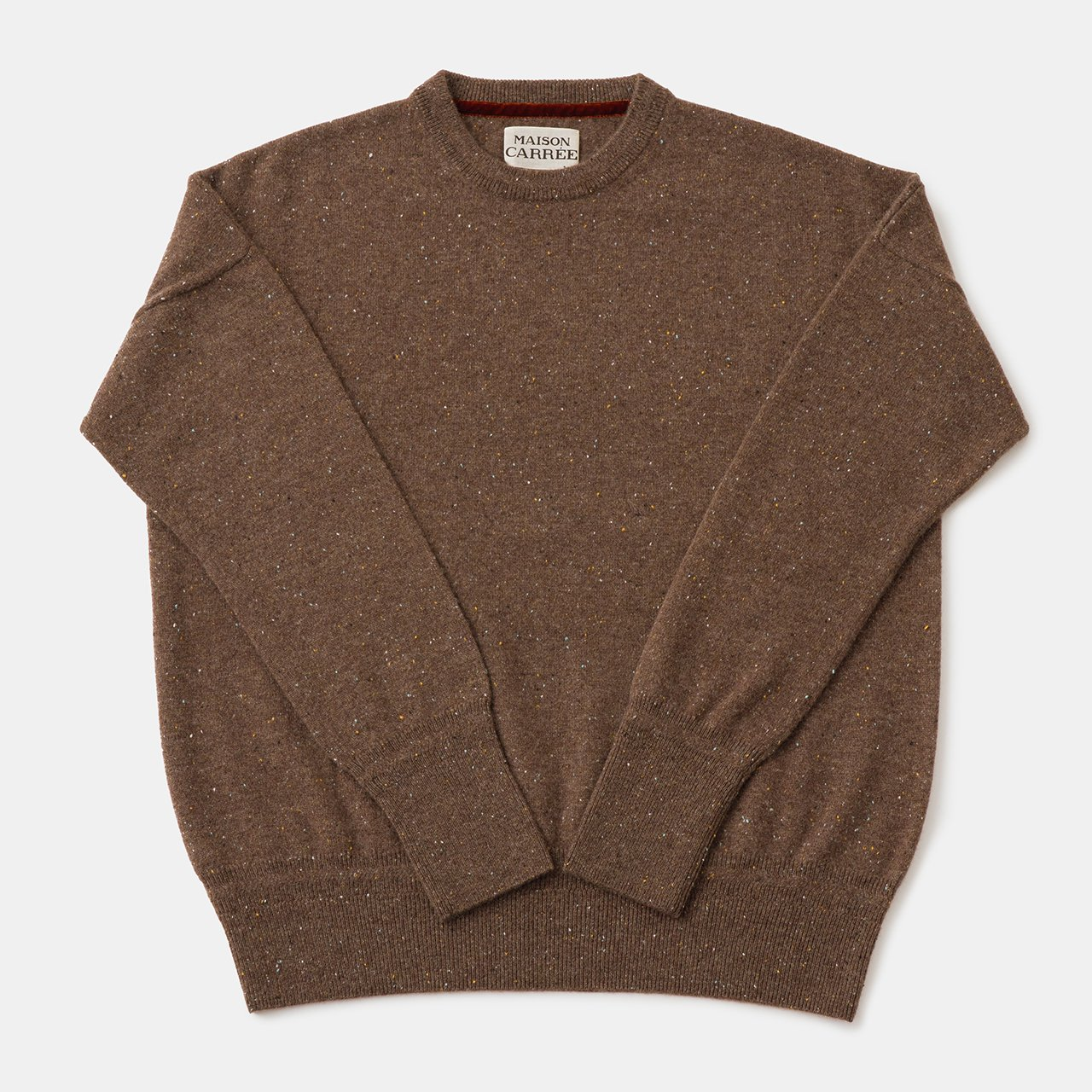CASHMERE Basic Tops<BR>STARDUST BROWN