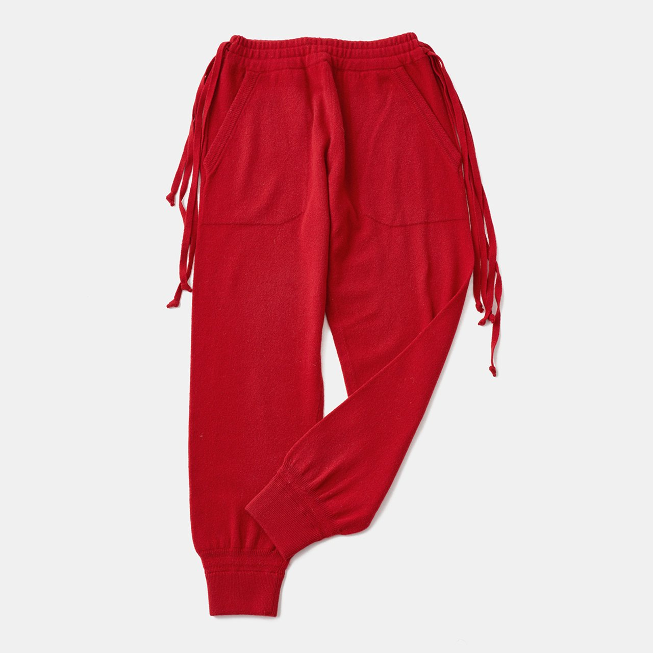 CASHMERE Basic Pants<BR>RED