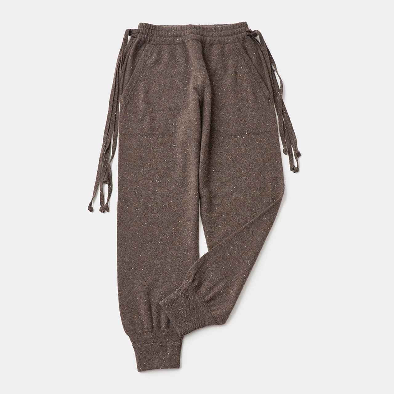 CASHMERE Basic Pants<BR>STARDUST BROWN