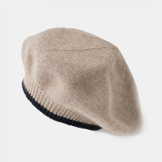 CASHMERE Beret<BR>BI-COLOR