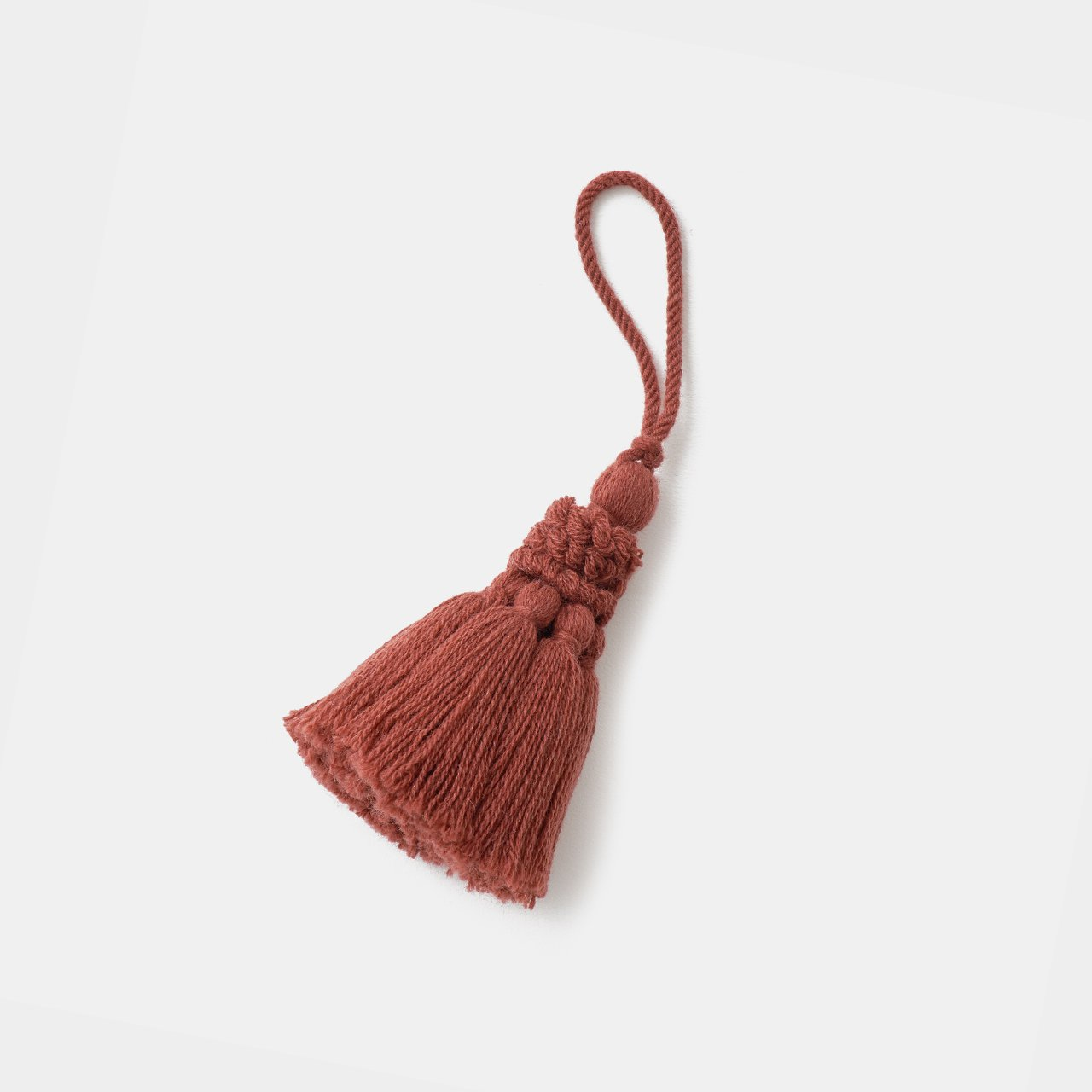 CASHMERE TASSEL<BR>RED BRICK