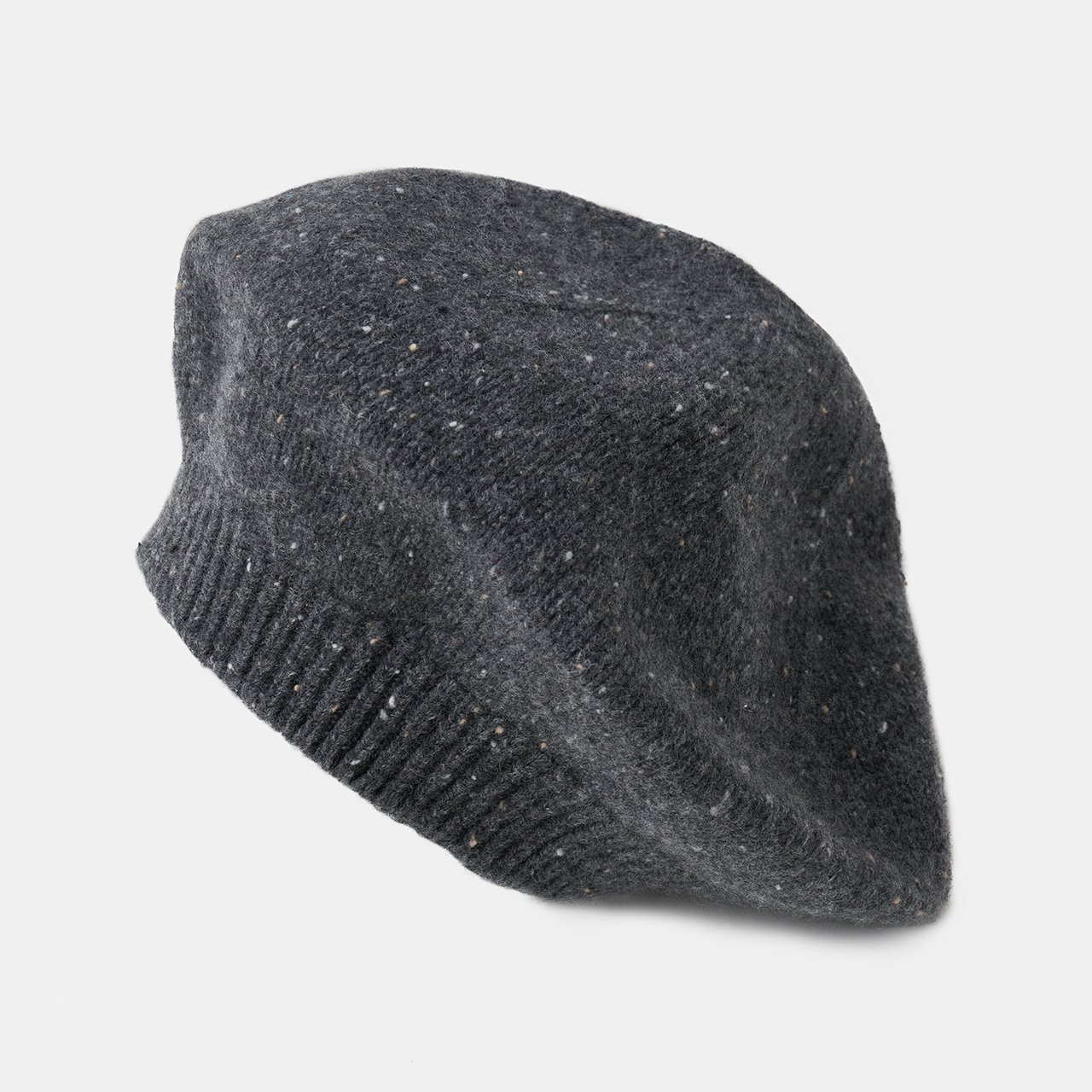 CASHMERE Beret<BR>STARDUST GRAY