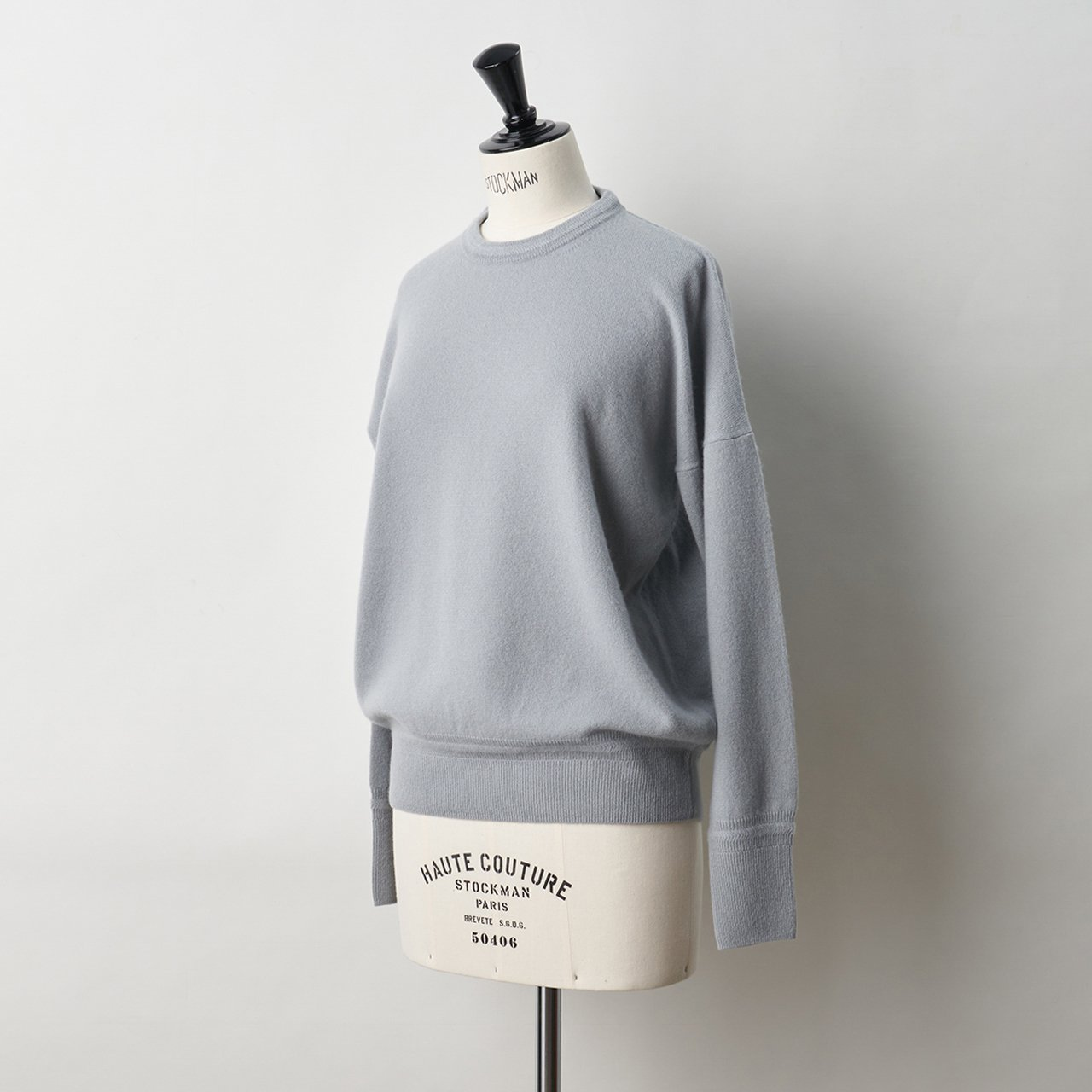 CASHMERE BASIC TOPS<BR>CLOUDY SKY