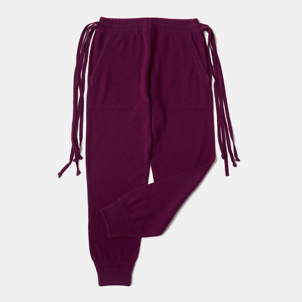 CASHMERE BASIC PANTS<BR>PURPLE