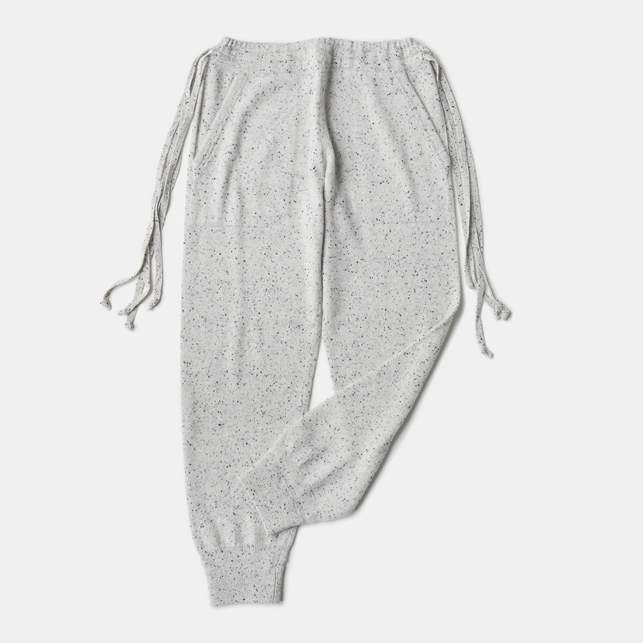 CASHMERE STARDUST PANTS<BR>WHITE