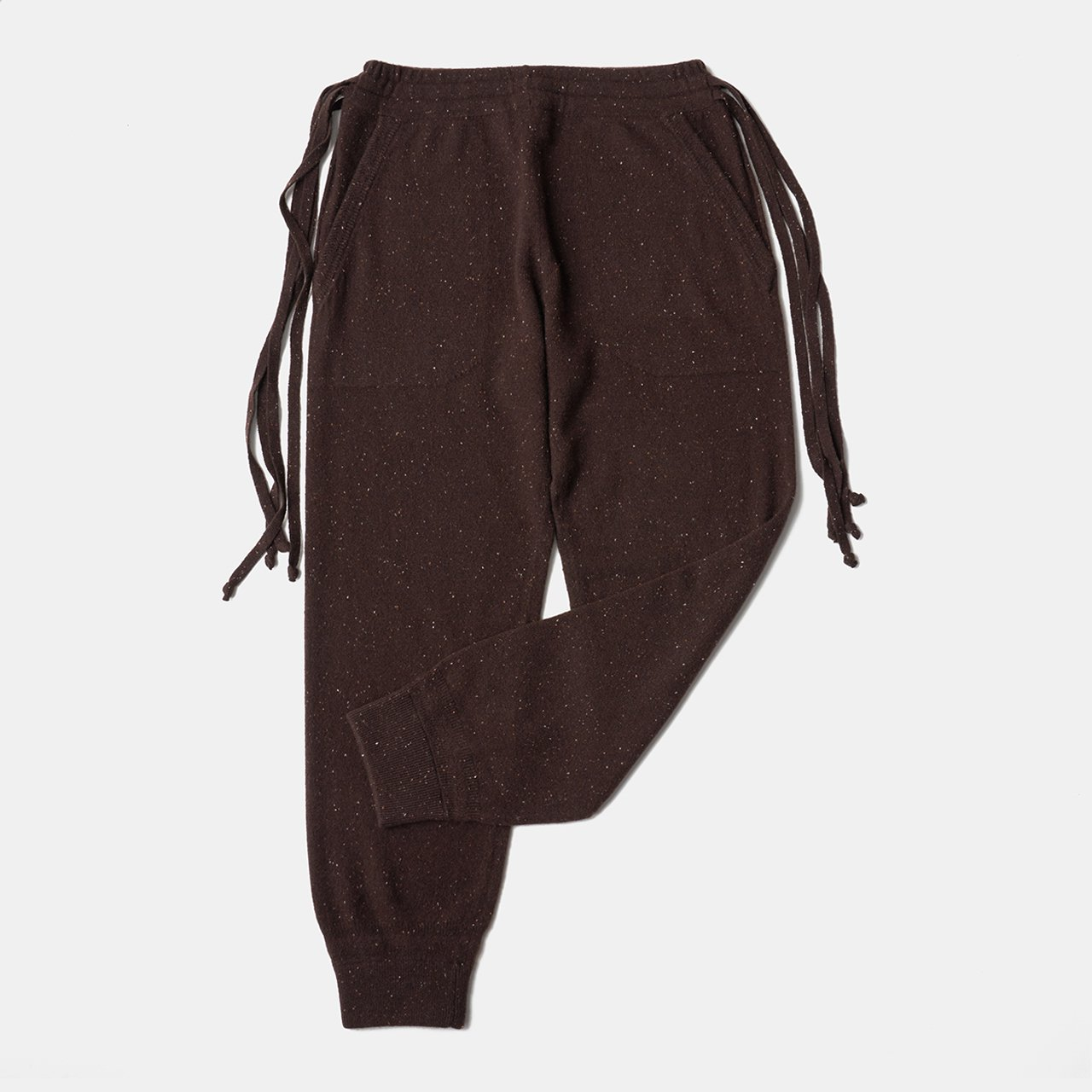 CASHMERE STARDUST PANTS<BR>ALMOND CHOCOLATE