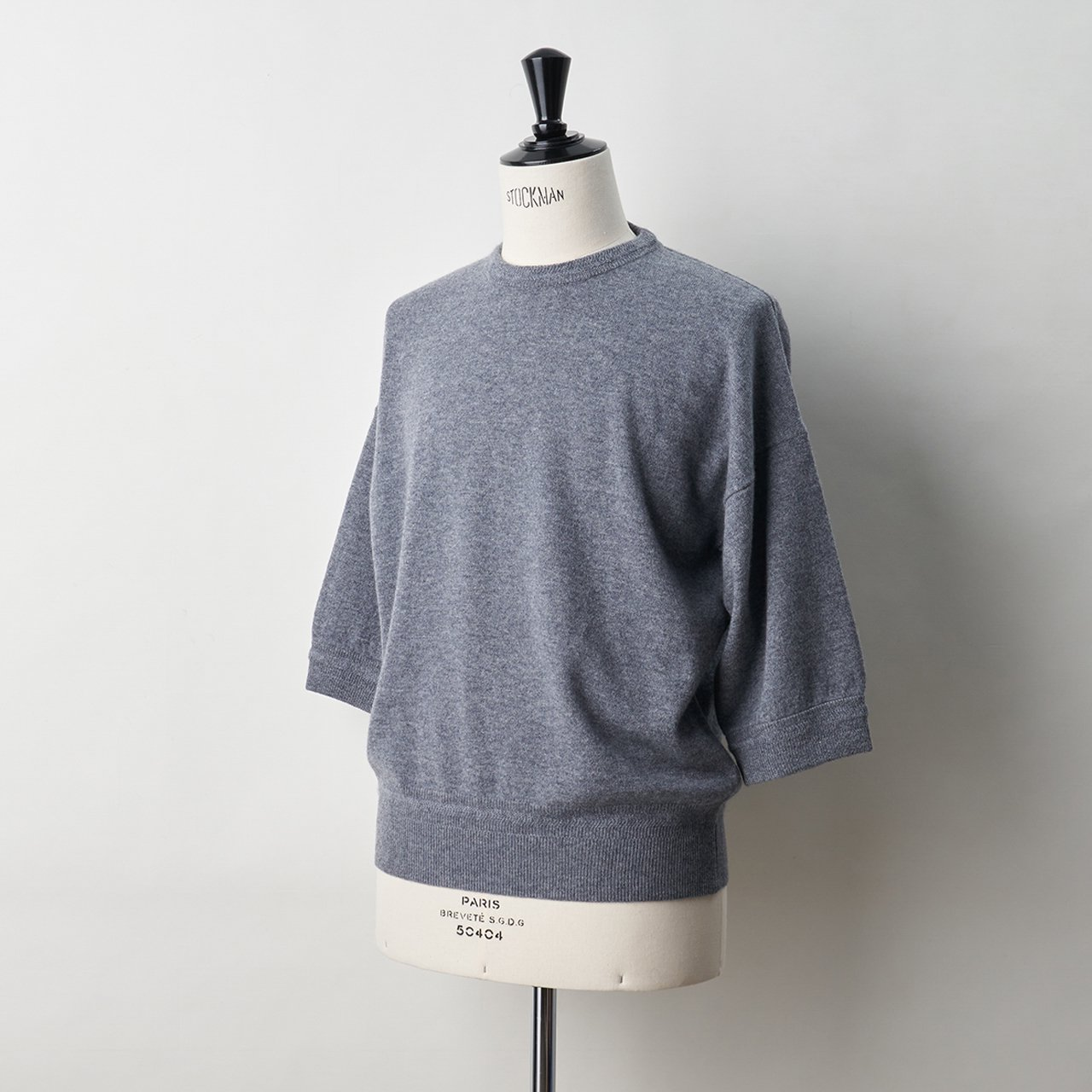 CASHMERE  BASIC BoyFriend  TOPS<BR>GREY