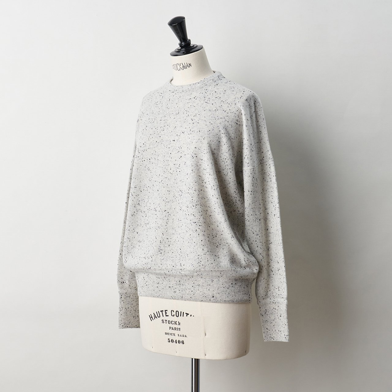 CASHMERE STARDUST TOPS<BR>WHITE