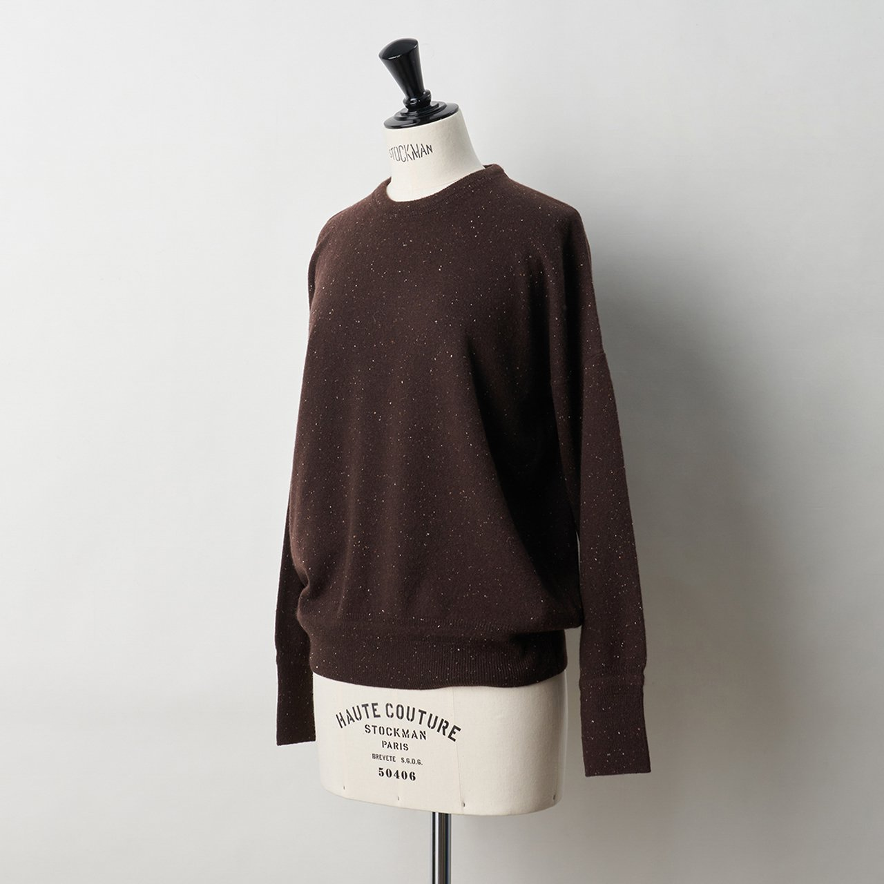 CASHMERE STARDUST TOPS<BR>ALMOND CHOCOLATE