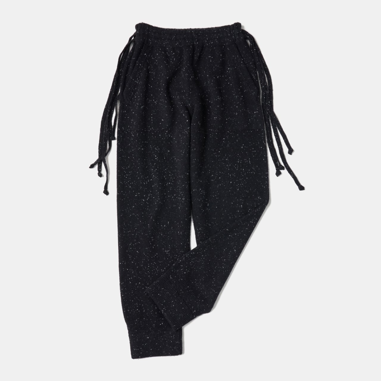 CASHMERE Middle gauge Pants<BR>STARDUST BLACK