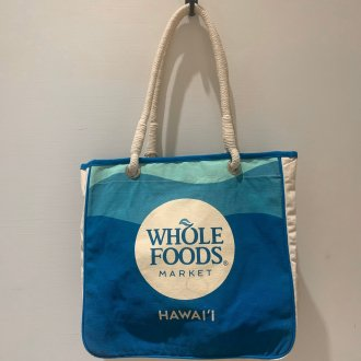 WHOLE FOODS トートバック サーフボード柄グリーン