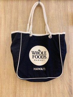 WHOLE FOODS トートバック ホワイト文字柄