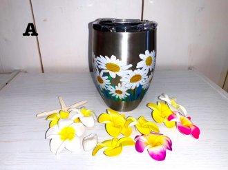花柄タンブラー
