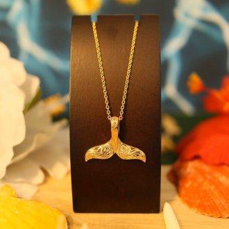 【Hawaiian Jewelry】 サージカルステンレス ホエールテール